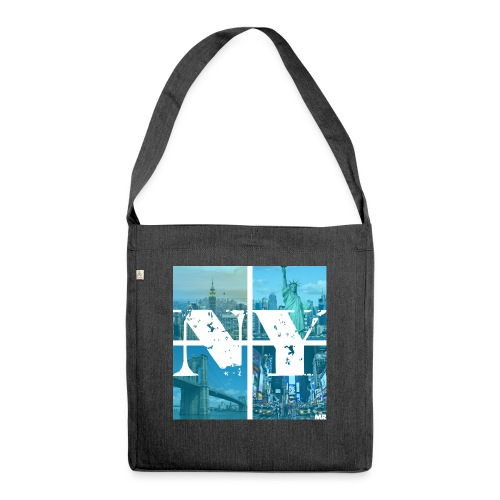 NEW YORK BLUE - Schultertasche aus Recycling-Material