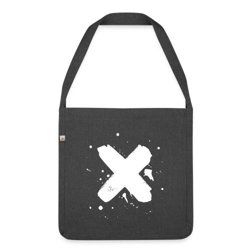 X valkoinen - Olkalaukku kierrätysmateriaalista