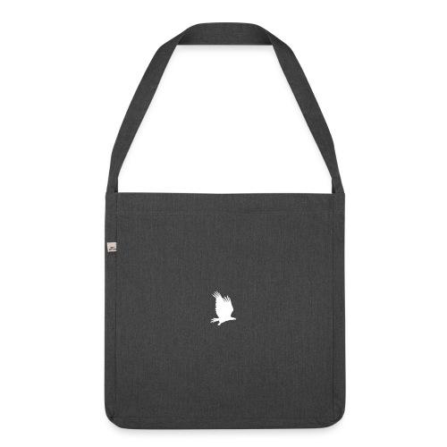 Tirolerbergluft pur (kleiner Adler) - Schultertasche aus Recycling-Material
