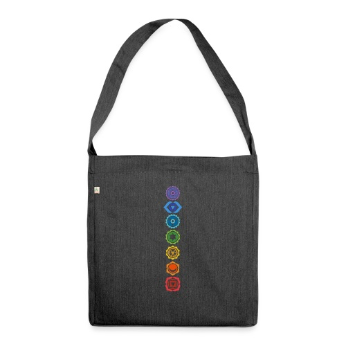 The 7 Chakras, Energy Centres Of The Body - Shoulder Bag made from recycled material