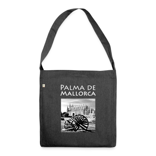 Palma de Mallorca mit Cathedrale Heiligen Maria - Schultertasche aus Recycling-Material