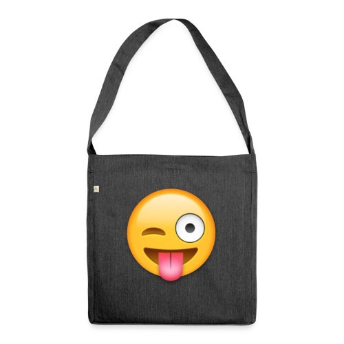 Winking Face - Schultertasche aus Recycling-Material