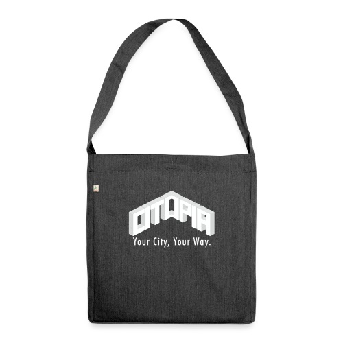 Logo with Slogan - Shoulder Bag made from recycled material
