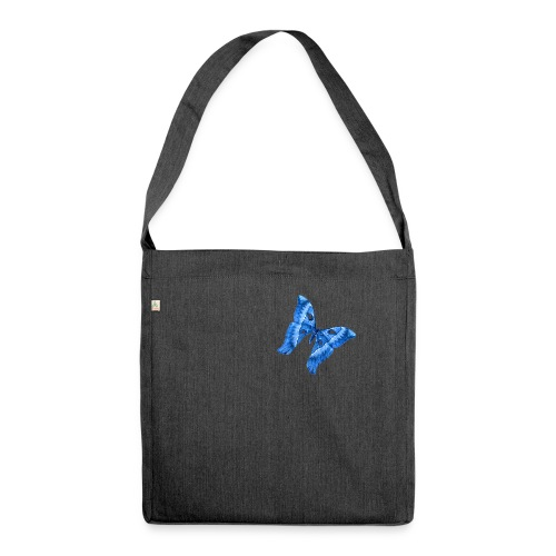 Herkules Falter Blau - Schultertasche aus Recycling-Material
