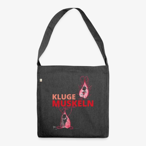 Kluge Muskeln - Schultertasche aus Recycling-Material