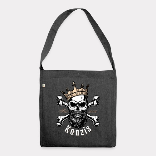 Skull Bones Logo - Schultertasche aus Recycling-Material