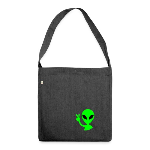 Peace out Alien - Shoulder Bag made from recycled material