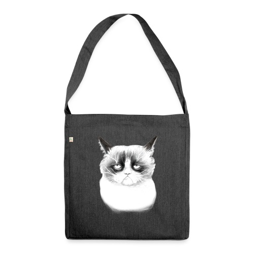 Grumpy Cat - Shoulder Bag made from recycled material