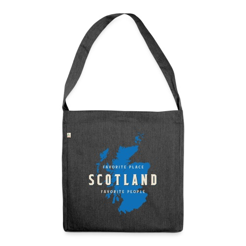 Scotland: Favorite Place, Favorite People - Schultertasche aus Recycling-Material