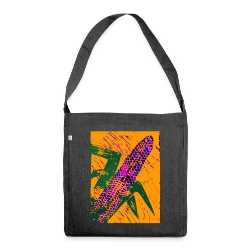 Mais violett - Schultertasche aus Recycling-Material