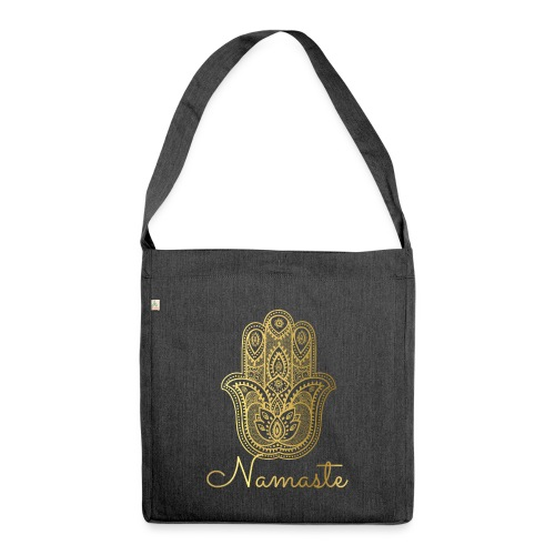 Namaste Meditation Yoga Sport Fashion - Schultertasche aus Recycling-Material