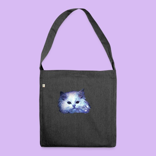 Gatto glitter - Borsa in materiale riciclato