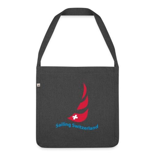 logo sailing switzerland - Schultertasche aus Recycling-Material