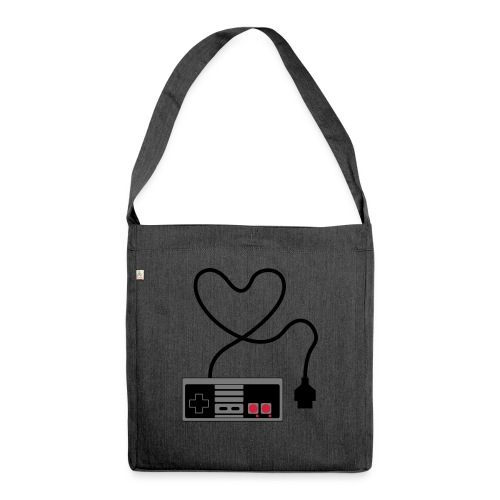 NES Controller Heart - Shoulder Bag made from recycled material