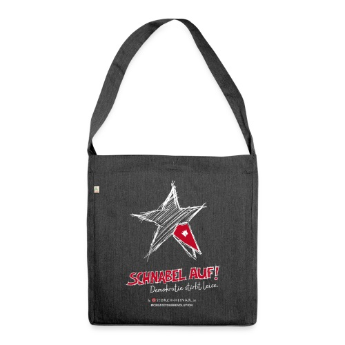 Storch Heinar - beak up! - Shoulder Bag made from recycled material