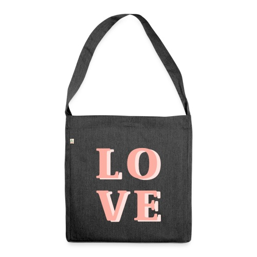 LOVE - Schultertasche aus Recycling-Material