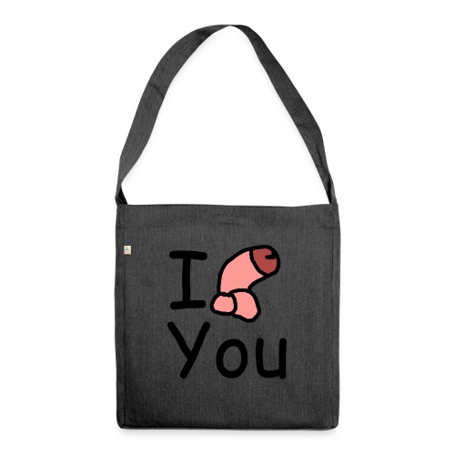 I dong you pillow - Shoulder Bag made from recycled material