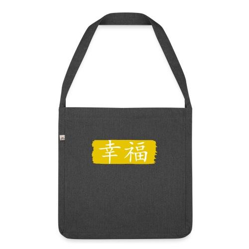 Kanji Giapponese - Felicità - Borsa in materiale riciclato