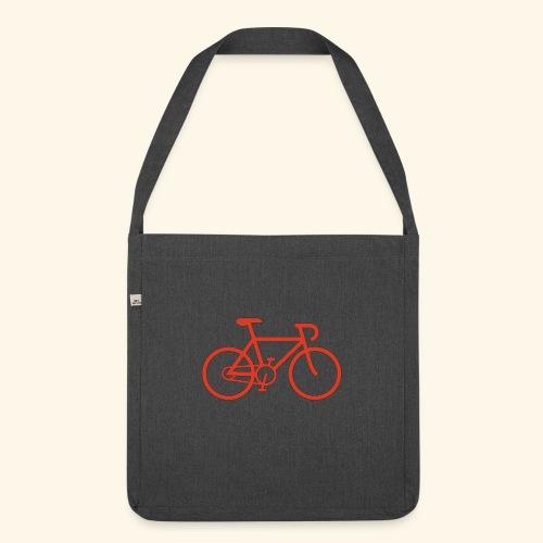 Rennrad, Race-Bike, Fahrrad - Schultertasche aus Recycling-Material