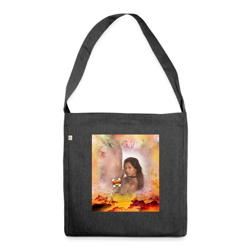 indian spring - Schultertasche aus Recycling-Material
