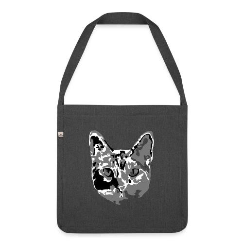 Katzenliebe - Schultertasche aus Recycling-Material
