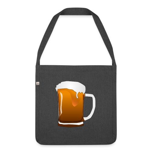 Cartoon Bier Geschenkidee Biermaß - Schultertasche aus Recycling-Material
