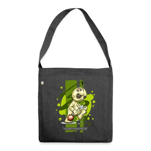 I quit - Schultertasche aus Recycling-Material