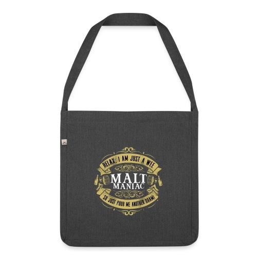 Malt Maniac - Schultertasche aus Recycling-Material