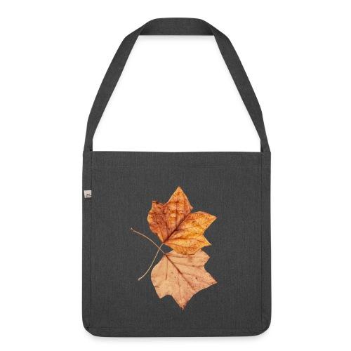Blätter - Schultertasche aus Recycling-Material