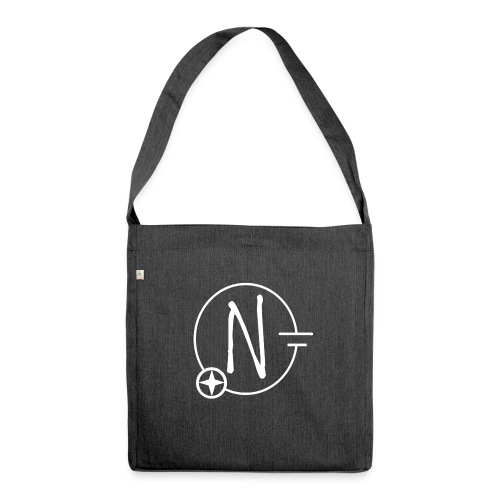Nerdpol Logo White - Schultertasche aus Recycling-Material