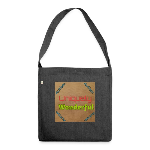 Autism statement - Shoulder Bag made from recycled material