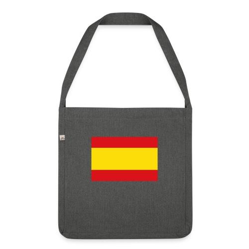 vlag van spanje - Schoudertas van gerecycled materiaal