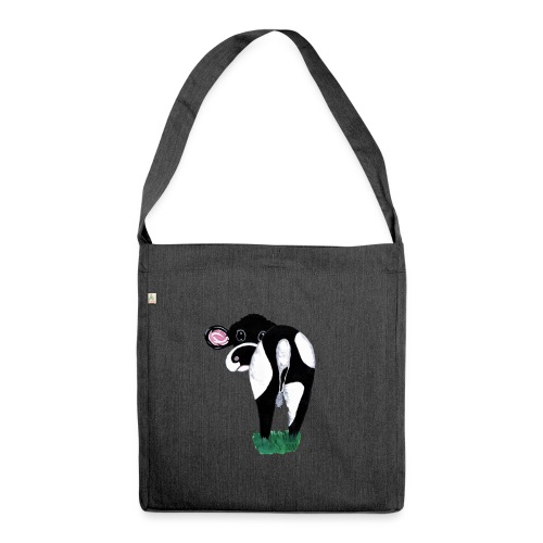 Quirky Cows Rear view - Shoulder Bag made from recycled material