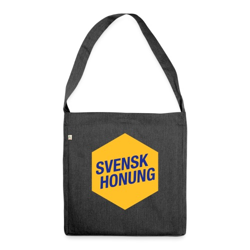 Svensk honung Hexagon Gul/Blå - Axelväska av återvinningsmaterial