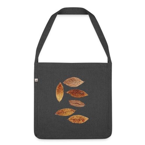 Bunte Blätter - Schultertasche aus Recycling-Material