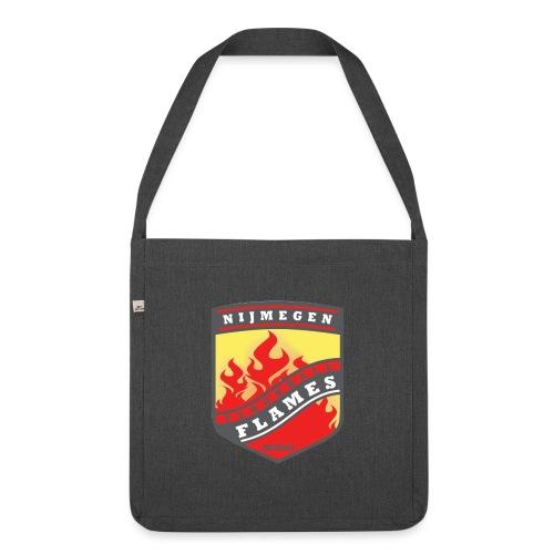 snapback pet rood/zwart combi - Schoudertas van gerecycled materiaal