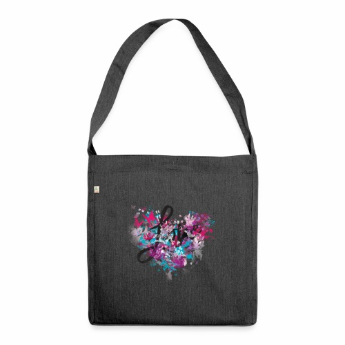 Love with Heart - Shoulder Bag made from recycled material