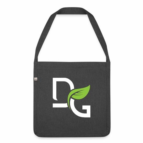 DrGreen Logo Symbol weiss grün - Schultertasche aus Recycling-Material