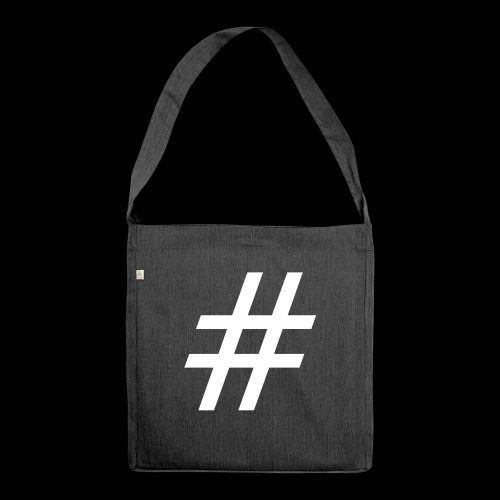 Hashtag Team - Schultertasche aus Recycling-Material