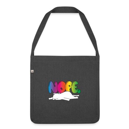 Tasse Nope Katze Lustiger Spruch Regenbogen - Schultertasche aus Recycling-Material