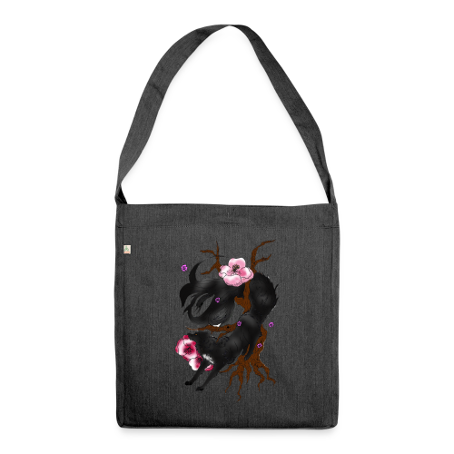Black Wolf Spring - Schultertasche aus Recycling-Material