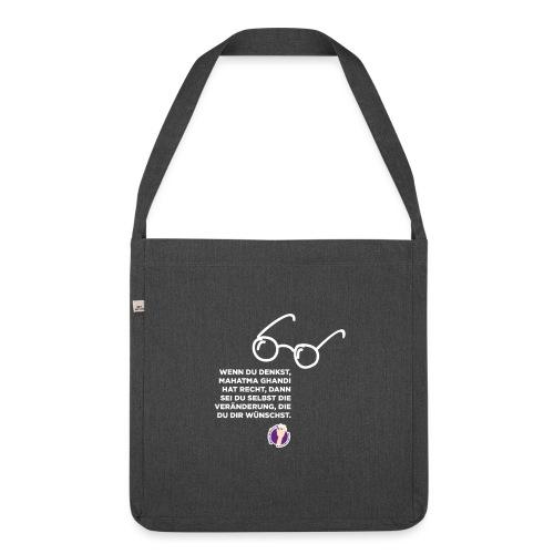 Mahatma Ghandi - Schultertasche aus Recycling-Material