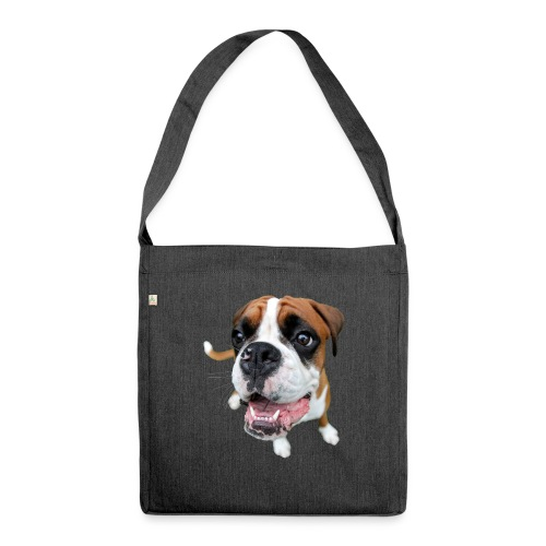 Boxer Rex dog - Shoulder Bag made from recycled material