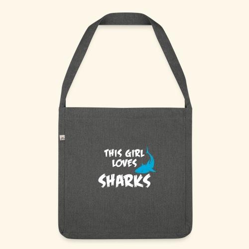 Hai Frauen T-Shirt Englisch - Schultertasche aus Recycling-Material