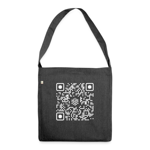 QR Safenetforum White - Shoulder Bag made from recycled material