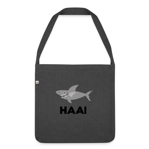 haai hallo hoi - Schoudertas van gerecycled materiaal