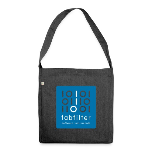 fabfilter logo blue large - Shoulder Bag made from recycled material
