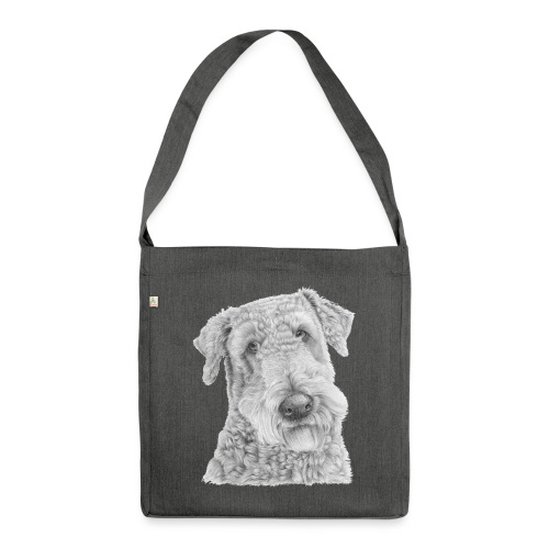 airedale terrier - Skuldertaske af recycling-material
