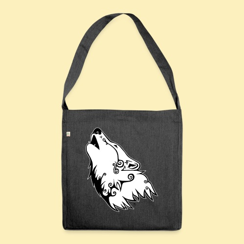 Le Loup de Neved (version contour blanc) - Sac bandoulière 100 % recyclé