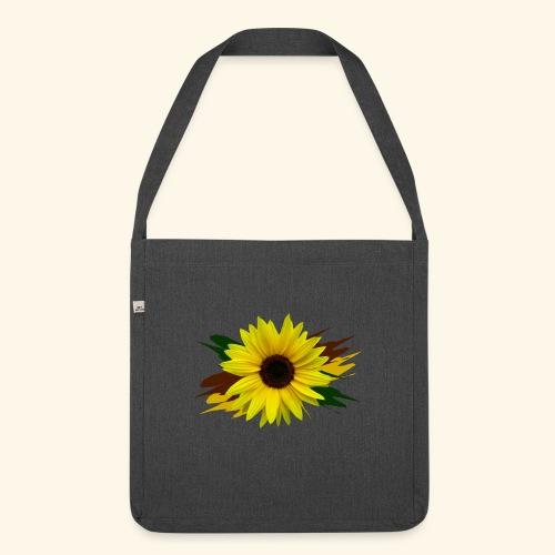 Sonnenblume, Sonnenblumen, Blume, floral, blumig - Schultertasche aus Recycling-Material